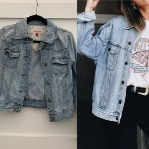 Distressed light denim Mossimo Jacket